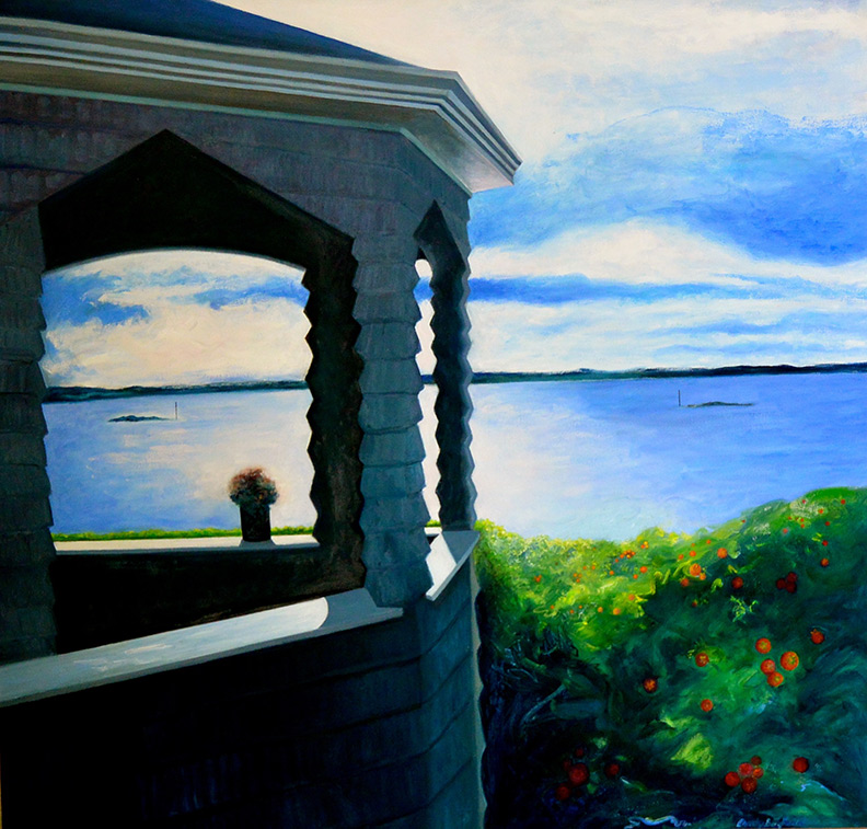 Christy Bergland Maine Landscapes, The End of the Porch