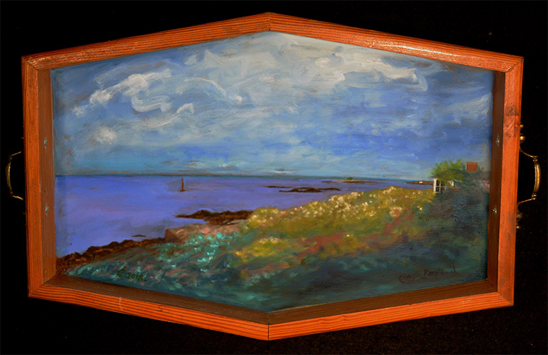 Christy Bergland, acrylic boxes, Saco Bay Evening