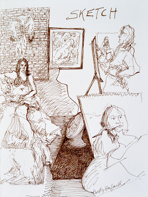 Christy Bergland figure drawings, Sketch